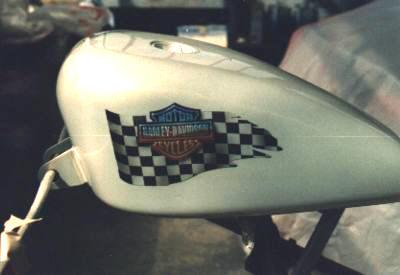 Designlack Tank Motorrad Flagge